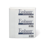 "Kruger Products Embassy Supreme Perforated & Embossed Multifold, 9"" x 9.5"" - 250 sheets per bundle - 12 bundles per case - 3000 sheets per case"