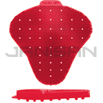 Ekcos Innovations EkcoScreen Anti-Splashback Urinal Screen - Melon Fragrance - 1 case of 12 urinal screens - Red in Color