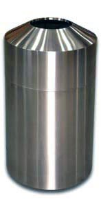 "Imprezza RT30SS Raised Open Top Waste Can - 30 Gallon Capacity - 20"" Dia. x 33"" H - Stainless Steel"